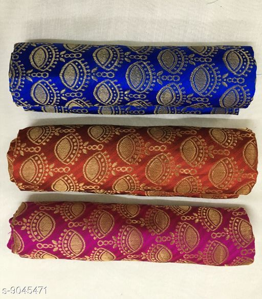 Blouses Trendy Heavy Jaiquard Blouse   *Fabric* Cotton  *Blouse Fabric * Separate Blouse  *Blouse * Separate Blouse  *Pattern* Zari Work  *Multipack* 3  *Sizes*  Free Size Saree Length Size 5.5 m Blouse Length Size 0.8 m)  *Sizes Available* Free Size *    Catalog Name: Jivika Voguish Women Blouses CatalogID_1563705 C74-SC1007 Code: 173-9045471-