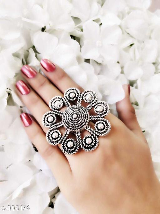 Oxidised Silver Fancy Oxidized Ring