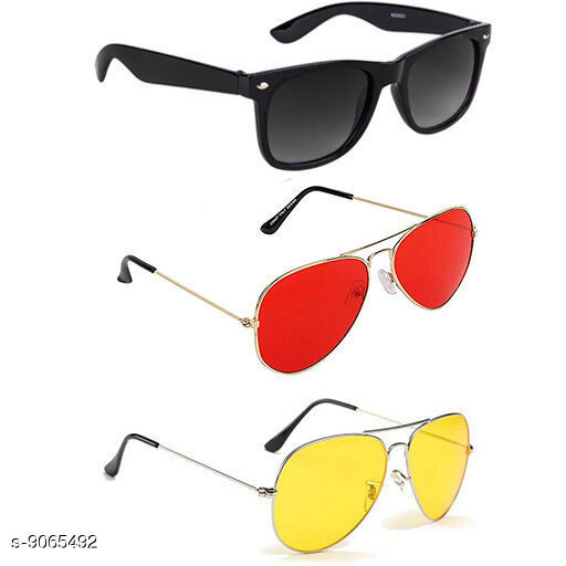 Sunglasses  Casual Latest Unisex Sunglasses  *Glass Material* Fiber  *Multipack* 3  *Sizes* Free Size  *Sizes Available* Free Size *    Catalog Name:  Casual Latest Unisex Sunglasses CatalogID_1568620 C72-SC1084 Code: 573-9065492-