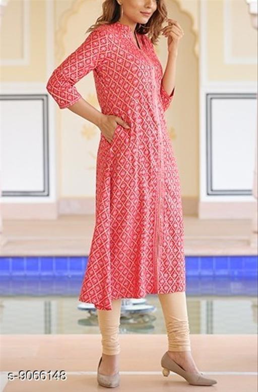 Kurtis & Kurtas Surya Creation - Women's A-line Dress Floral Golden Print Tunic Ethnic Wedding Wear  *Fabric* Rayon  *Sleeve Length* Three-Quarter Sleeves  *Combo of* Single  *Sizes*  M  *Sizes Available* M *    Catalog Name: Charvi Fabulous Kurtis CatalogID_1568777 C74-SC1001 Code: 666-9066148-998