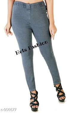 Plus Size Solid Jegging