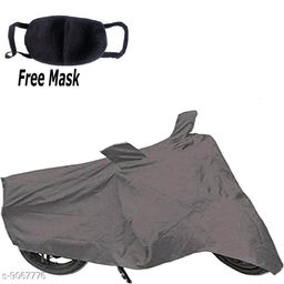 WK Two wheeler Cover _Grey _For_Fascino 125