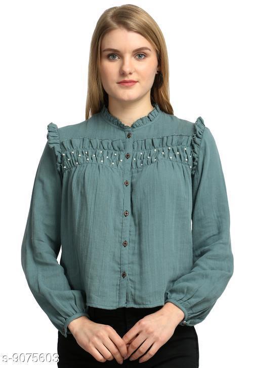 Tops & Tunics Women Western Wear - Western Bottomwear - Leggings  *Fabric* Cotton  *Pattern* Solid  *Multipack* Single  *Sizes*   *S (Bust Size* 36 in)  *M (Bust Size* 38 in)  *L (Bust Size* 40 in)  *XL (Bust Size* 42 in)  *Sizes Available* S, M, L, XL *    Catalog Name: Pretty Sensational Women Tops & Tunics CatalogID_1571012 C79-SC1020 Code: 094-9075603-