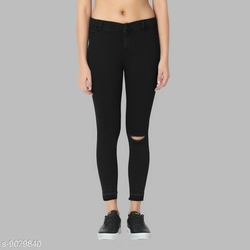 Guti women's skiny fit~High rise Black Jeans