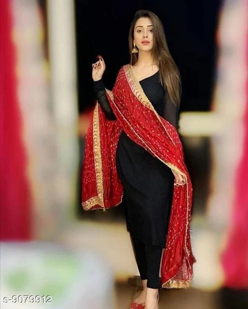 Art Silk Bhandhej Ethnic Stylish Dupatta's