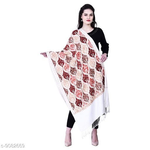 Ladies Kashmiri Stole (Size 30 x 80 Inches) Viscose by Viscose Matka Design