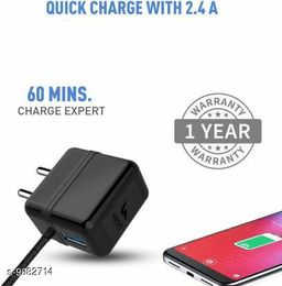 UBON Micro USB Rapid Boost Charger with extra USB Port & 6 Monts Warranty