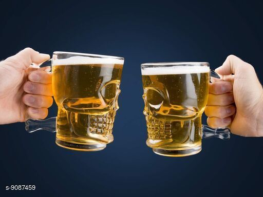 Bar, Glassware & Drinkware Home Daily Use Tableware Beer Mug, Crystal Clear Mug  *Material* Glass  *Pack* Pack of 2  *Capacity* 500 mL  *Glass Type* Beer Mug  *Sizes Available* Free Size *    Catalog Name: Home Daily Use Tableware Beer Mug, Crystal Clear Mug CatalogID_1573644 C136-SC1130 Code: 793-9087459-