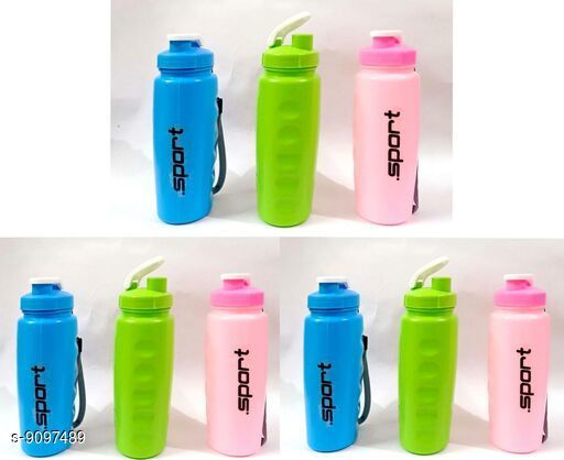 Bottles & Jugs Bottles  *Material* Plastic  *Size* Free Size  *Sizes Available* Free Size *    Catalog Name: Classy Water Bottles CatalogID_1575912 C130-SC1124 Code: 012-9097489-