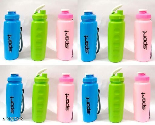 Bottles & Jugs Bottles  *Material* Plastic  *Size* Free Size  *Sizes Available* Free Size *    Catalog Name: Classy Water Bottles CatalogID_1575912 C130-SC1124 Code: 012-9097492-
