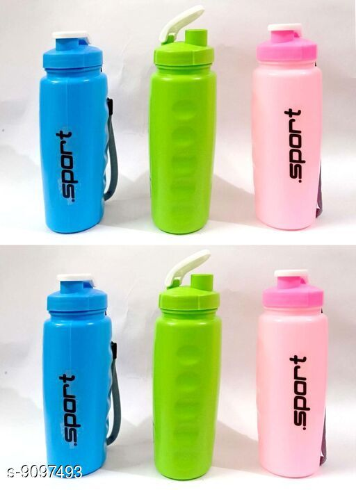 Bottles & Jugs Bottles  *Material* Plastic  *Size* Free Size  *Sizes Available* Free Size *    Catalog Name: Classy Water Bottles CatalogID_1575912 C130-SC1124 Code: 012-9097493-