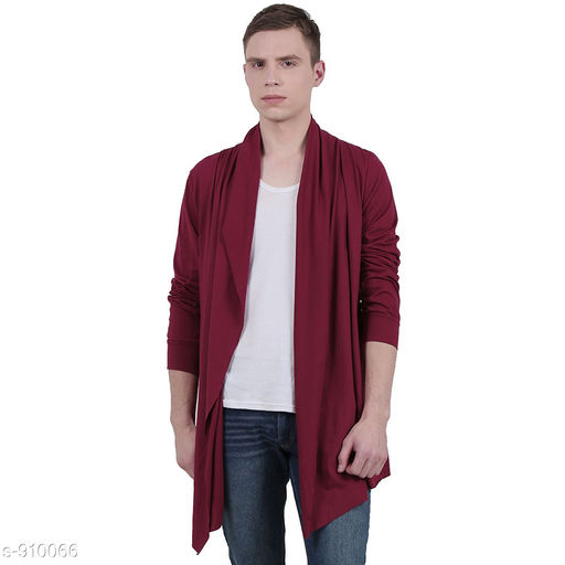 Shrugs Fashionable Men's Cotton Solid Shrug  *Fabric* Cotton  *Sleeves* Full Sleeves Are Included  *Size* S, M, L, XL, XXL  (Refer Size Chart )  *Length* (Refer Size Chart )  *Type* Stitched  *Fit* Slim  *Description* It Has 1 Piece of Men's Shrug  *Pattern* Solid  *Sizes Available* S, M, L, XL, XXL *   Catalog Rating: ★3.9 (3780)  Catalog Name: Men's Smarty Cotton Solid Shrug Vol 5 CatalogID_106842 C70-SC1469 Code: 043-910066-