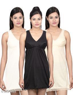 Women Pack of 3 Multicolor Cotton Camisoles