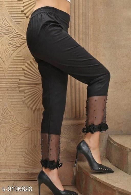 Ethnic Bottomwear - Churidar Pants Pearl Work Designer Cigarette Churidar pants  *Fabric* Pure Jam Satin Cotton  *Pattern* Embellished (Pearl Work)  *Multipack* 1  *Sizes*   *42 (Waist Size* 42 in, Length Size  *Sizes Available* 42 *   Catalog Rating: ★3.8 (15)  Catalog Name: Flouncy Women Churidar Pants CatalogID_1578092 C74-SC1016 Code: 834-9106828-