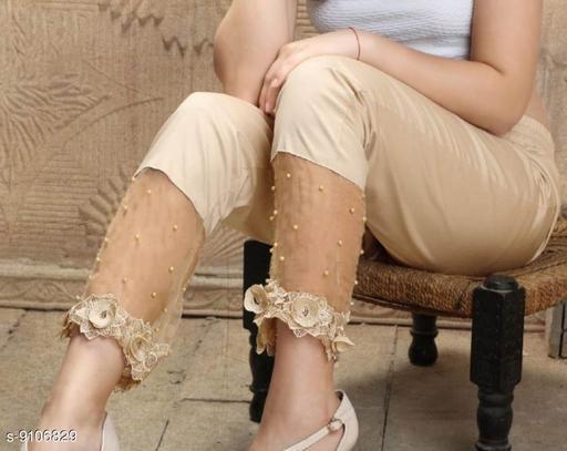 Ethnic Bottomwear - Churidar Pants Pearl Work Designer Cigarette Churidar pants  *Fabric* Pure Jam Satin Cotton  *Pattern* Embellished (Pearl Work)  *Multipack* 1  *Sizes*   *42 (Waist Size* 42 in, Length Size  *Sizes Available* 42 *   Catalog Rating: ★3.8 (15)  Catalog Name: Flouncy Women Churidar Pants CatalogID_1578092 C74-SC1016 Code: 834-9106829-