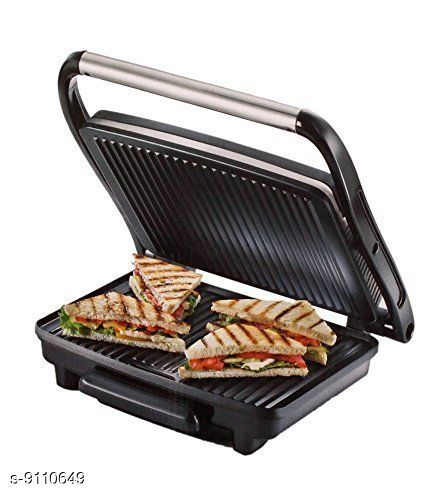 Sandwich Maker Electric Commercial Grill Toaster (Black) - Prestige  *Sizes*  Free Size  *Sizes Available* Free Size *    Catalog Name: Essential Toasters CatalogID_1579000 C104-SC1490 Code: 8613-9110649-5924