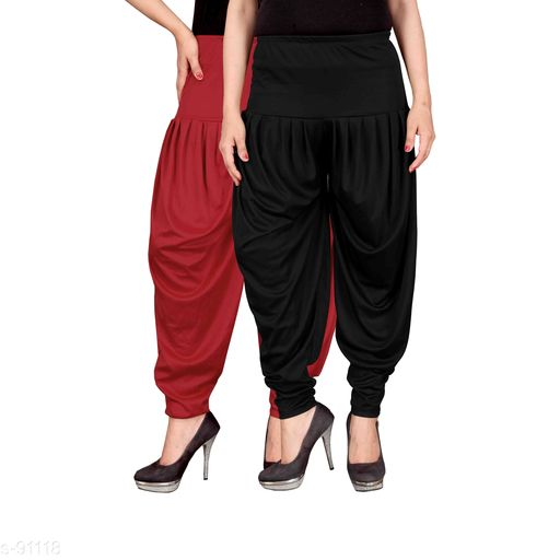 Trendy Lycra Dhoti Pants Set of 2