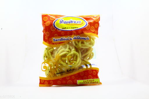 Dry Fruits and Sweets Gifts Kovilpatti Special Ghee Murukku  *Material* Plastic  *Pack* Pack of 1  *Sizes Available* Free Size *    Catalog Name: Kovilpatti Special Onion Murukku  CatalogID_1580114 C128-SC1319 Code: 341-9115606-
