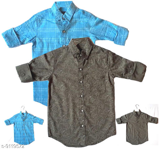 Shirts BOYS COTTON SHIRT  *Fabric* Cotton  *Multipack* 1  *Sizes*  5-6 Years  *Sizes Available* 5-6 Years *   Catalog Rating: ★3 (4)  Catalog Name: Agile Funky Boys Shirts CatalogID_1581102 C59-SC1174 Code: 906-9119572-