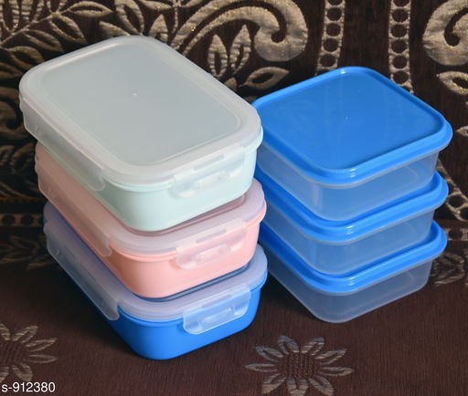 Racks & Holders Useful Plastic Boxes (Combo)  *Material* Plastic  *Size* Free Size  *Capacity* 500ml & 300ml  *Description* It Has 6 Pieces Of Plastic Boxes  *Sizes Available* Free Size *   Catalog Rating: ★4.4 (1055)  Catalog Name: Useful Plastic Boxes Combo Vol 2 CatalogID_107184 C130-SC1640 Code: 233-912380-