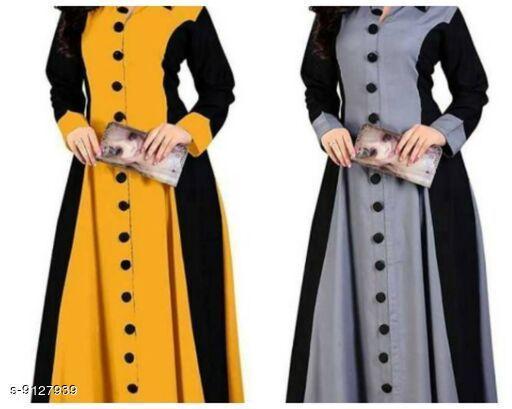 Women's Colorblocked Rayon Kurti Combo