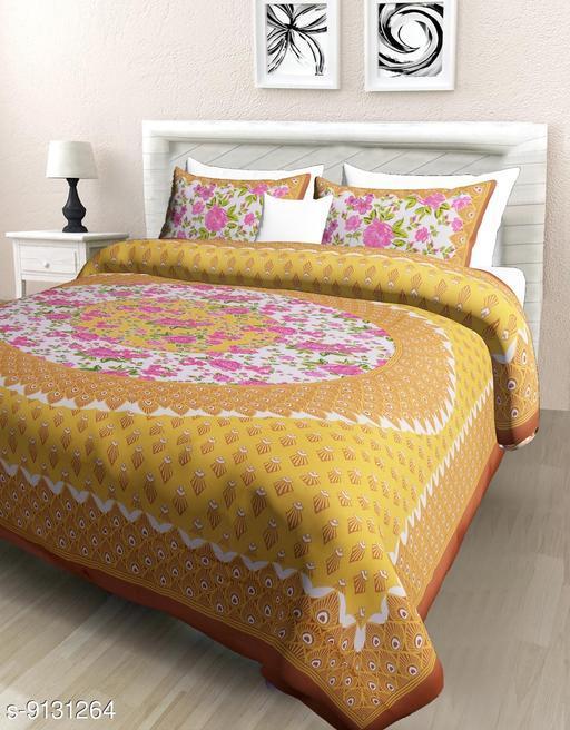 Trendy  Cotton Comfort Rajasthani Jaipuri Traditional Sanganeri  Badsheet