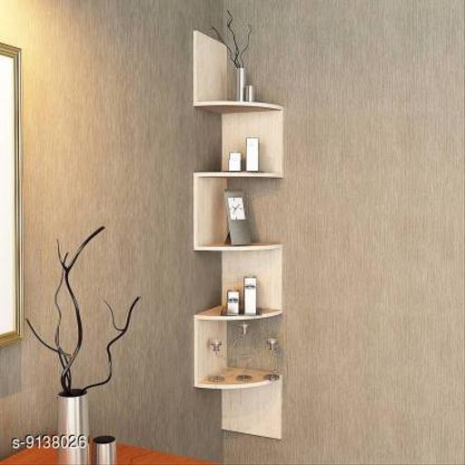 Wooden Zigzag Shelf (Cream)