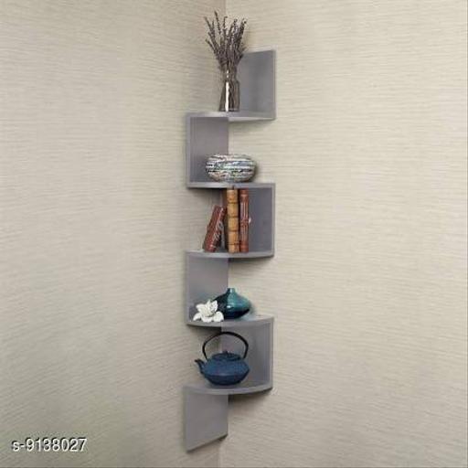 Wooden Zigzag Shelf