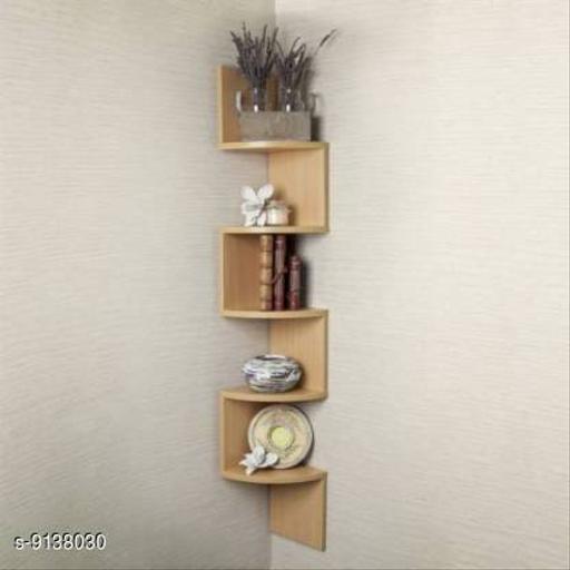 Wooden Zigzag Shelf (Gold)