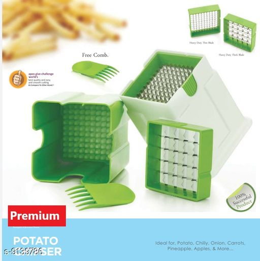 Choppers & Peelers DEAPX_POTATO  CHIPSER  *Material* Plastic  *Sizes Available* Free Size *    Catalog Name: Essential Slicers CatalogID_1585670 C135-SC1656 Code: 104-9139786-