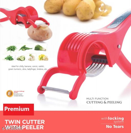 Choppers & Peelers DEAPX_TWIN CUTTER  *Material* Plastic  *Sizes Available* Free Size *    Catalog Name: Modern Slicers CatalogID_1585688 C135-SC1656 Code: 512-9139865-
