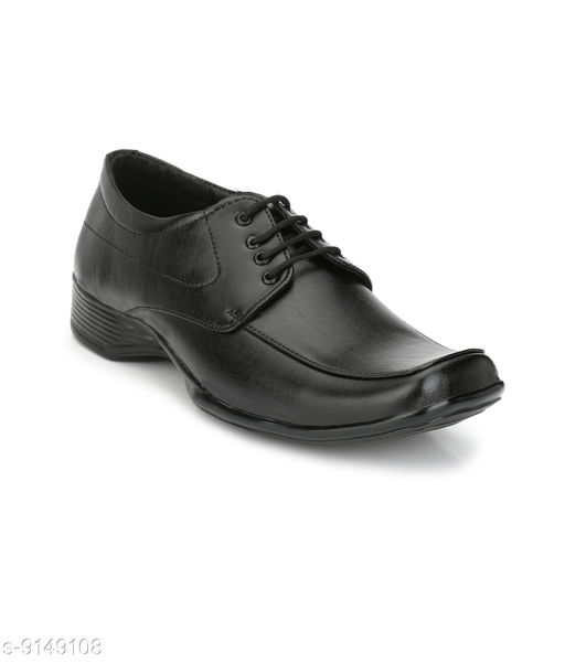 Formal Shoes Black Official  Formal Shoes For Men Material: Syntethic Leather Sole Material: PVC Fastening & Back Detail: Lace-Up Pattern: Solid Multipack: 1 Sizes:  IND-7 (Foot Length Size: 26 cm)  IND-6 (Foot Length Size: 25 cm)  IND-10 (Foot Length Size: 29 cm)  IND-9 (Foot Length Size: 28 cm)  IND-8 (Foot Length Size: 27 cm) Country of Origin: India Sizes Available: IND-6, IND-7, IND-8, IND-9, IND-10 *Proof of Safe Delivery! Click to know on Safety Standards of Delivery Partners- https://ltl.sh/y_nZrAV3  Catalog Rating: ★4.2 (334)  Catalog Name: Latest Trendy Men Formal Shoes CatalogID_1587856 C67-SC1236 Code: 604-9149108-