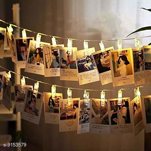 Brand World D.I.Y. 16 LED Photo Clip String Lights, D.I.Y.Home Decoration Hanging Fairy Lights, 16 Photo Clips, White