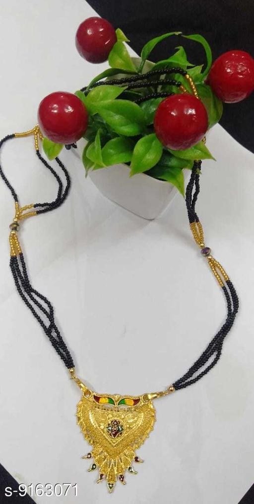 Mangalsutras Mangal Sutra Nacklaces  *Base Metal* Alloy  *Sizing* Adjustable  *Sizes* Free Size  *Sizes Available* Free Size *    Catalog Name: Elite Colorful Mangalsutras CatalogID_1590925 C77-SC1097 Code: 342-9163071-