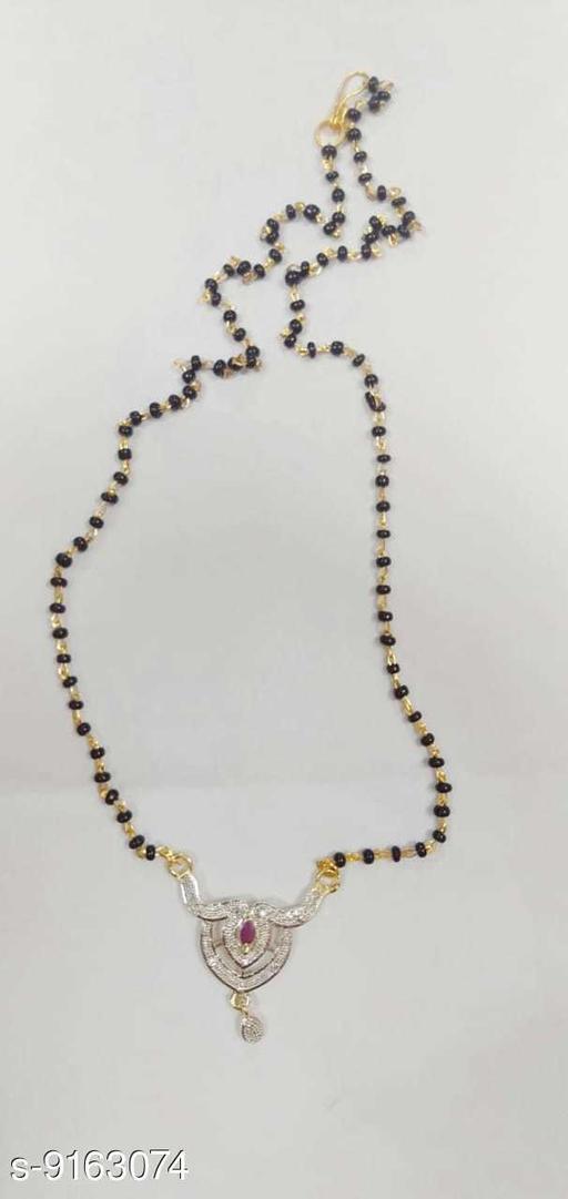 Mangalsutras Mangal Sutra Nacklaces  *Base Metal* Alloy  *Sizing* Adjustable  *Sizes* Free Size  *Sizes Available* Free Size *    Catalog Name: Elite Colorful Mangalsutras CatalogID_1590925 C77-SC1097 Code: 342-9163074-