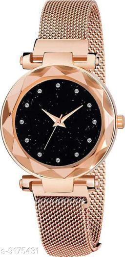 Gold Mesh Magnet Strap Magnetic Mesh Strap Analog Watch Girl's watch Analog Watch