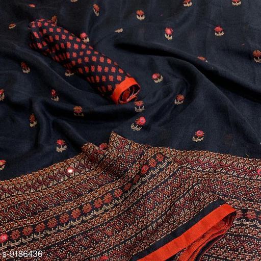 Anni Collections Black Color Jute Linen Saree
