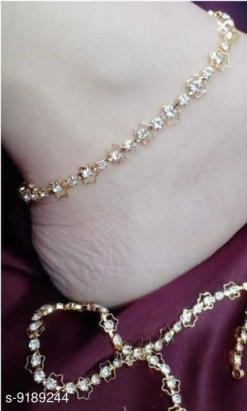 Anklets & Toe Rings Fancy anklets  *Base Metal* Brass  *Type* Chain Anklet  *Multipack* 1  *Sizes* Free Size  *Sizes Available* Free Size *    Catalog Name: Fancy anklets CatalogID_1597136 C77-SC1098 Code: 631-9189244-