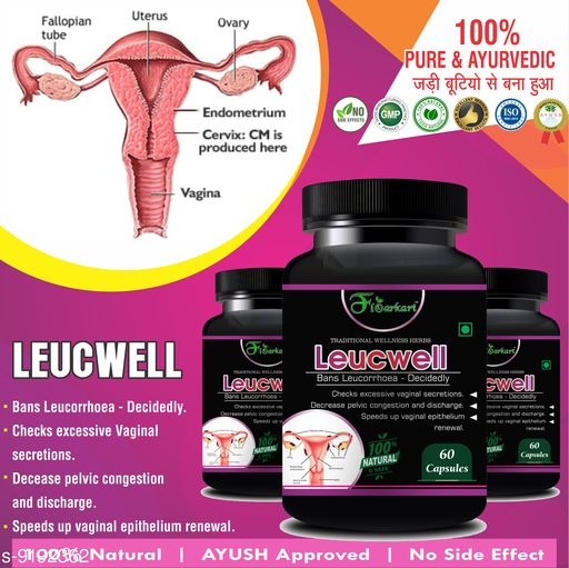 Others Leucewell Herbal Capsules For Help in removing leucorrhoea 100% Ayurvedic  Leucewell Herbal Capsules For Help in removing leucorrhoea 100% Ayurvedic  *Sizes Available* Free Size *    Catalog Name: Leucewell Herbal Capsules For Help in removing leucorrhoea 100% Ayurvedic CatalogID_1597842 C84-SC1285 Code: 9591-9192362-