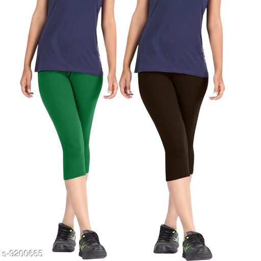 Capris Women Western Wear - Western Bottomwear - Leggings  *Fabric* Cotton  *Pattern* Solid  *Multipack* 1  *Sizes*  Free Size  *Sizes Available* Free Size, 28, 30, 32, 34, 36 *    Catalog Name: Trendy Fabulous Women Capris CatalogID_1599798 C79-SC1037 Code: 804-9200665-