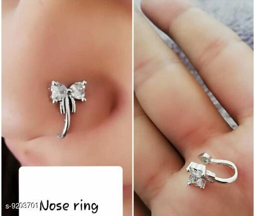 Nosepins Treandy Nosepin  *Base Metal* Alloy  *Multipack* 1  *Sizes* Free Size  *Sizes Available* Free Size *    Catalog Name: Shimmering Charming Nosepins CatalogID_1600470 C77-SC1099 Code: 851-9203701-