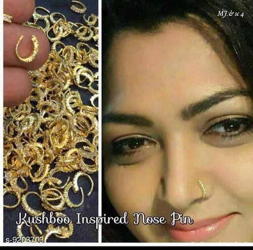 Nosepins Treandy Nosepin  *Base Metal* Alloy  *Multipack* 1  *Sizes* Free Size  *Sizes Available* Free Size *    Catalog Name: Shimmering Charming Nosepins CatalogID_1600470 C77-SC1099 Code: 851-9203703-