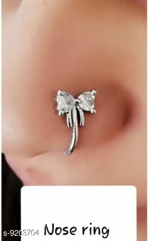 Nosepins Treandy Nosepin  *Base Metal* Alloy  *Multipack* 1  *Sizes* Free Size  *Sizes Available* Free Size *    Catalog Name: Shimmering Charming Nosepins CatalogID_1600470 C77-SC1099 Code: 851-9203704-