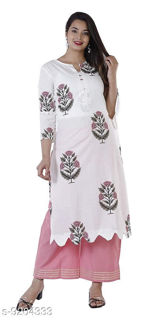 Women's  Cotton Kurta with Palazzos