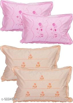 TRENDY COTTON LATEST PRINTED FLORAL DESIGNS PILLOW COVERS