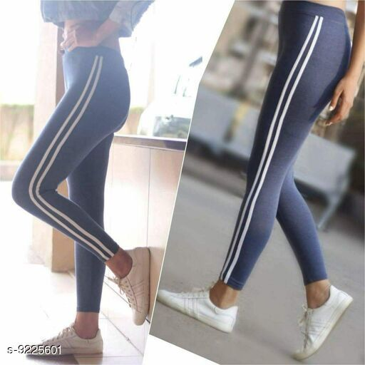 Active Bottomwear Attractive Women Cotton Jeggings  *Fabric* Cotton  Lycra  *Pattern* Checked  *Multipack* 1  *Sizes*   *32 (Waist Size* 32 in, Length Size  *Sizes Available* 24, 26, 28, 32 *    Catalog Name: Trendy Women's Yoga Jeggings CatalogID_1605737 C79-SC1408 Code: 672-9225601-