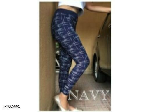 Active Bottomwear Attractive Women Cotton Jeggings  *Fabric* Cotton  Lycra  *Pattern* Checked  *Multipack* 1  *Sizes*   *32 (Waist Size* 32 in, Length Size  *Sizes Available* 24, 26, 28, 32 *    Catalog Name: Trendy Women's Yoga Jeggings CatalogID_1605737 C79-SC1408 Code: 672-9225602-