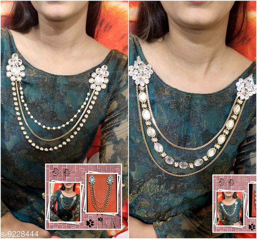 Necklaces & Chains Brooch  *Base Metal* Lac  *Sizes Available* Free Size *    Catalog Name: Fabulous Women Jewellery Accessories CatalogID_1606432 C77-SC1092 Code: 192-9228444-