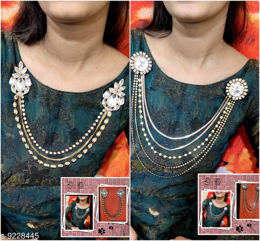 Necklaces & Chains Brooch  *Base Metal* Lac  *Sizes Available* Free Size *    Catalog Name: Fabulous Women Jewellery Accessories CatalogID_1606432 C77-SC1092 Code: 192-9228445-