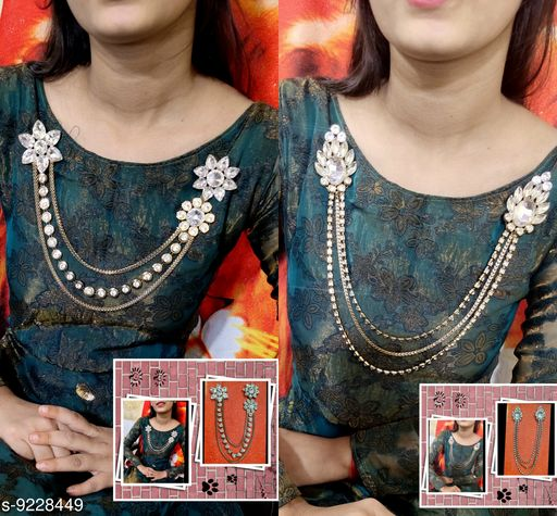 Necklaces & Chains Brooch  *Base Metal* Lac  *Sizes Available* Free Size *    Catalog Name: Fabulous Women Jewellery Accessories CatalogID_1606432 C77-SC1092 Code: 192-9228449-